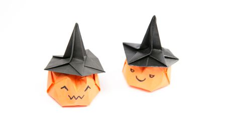 How to Fold an Origami Hat for Halloween | 265x450