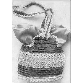 Vintage 1917 Shoulder Bag With Crocheted Shell Stitches