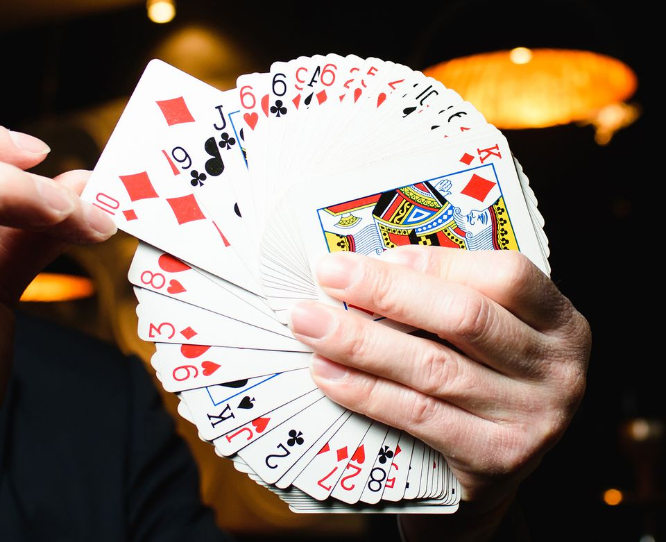 Holding a Deck of Cards in the Form of a Fan