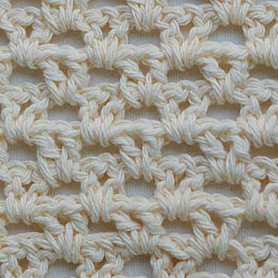 Crochet V Stitch Worked Using Lily Sugar 'n Cream Worsted Weight Cotton Yarn