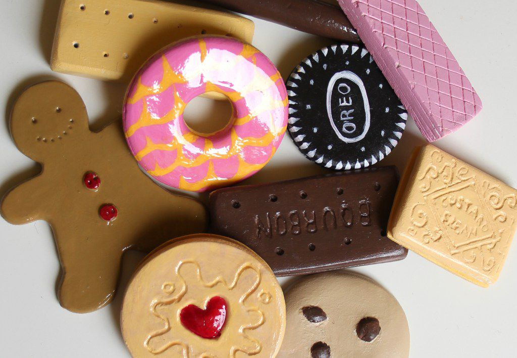 toy cookies from air dry clay