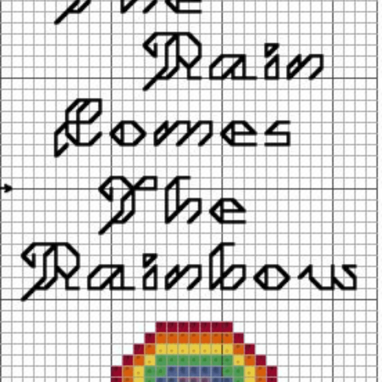 Rainbow bookmark