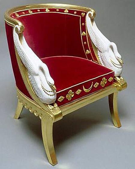 Egyptian Revival Gondola Chair Belonging To Empress Josephine Of France