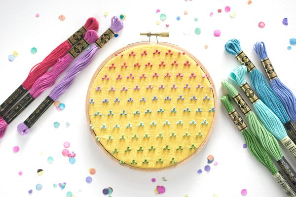 Colorful Candlewicking Embroidery