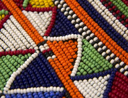 Colorful bead weaving stitching