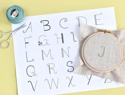 Alphabet Sampler Embroidery Pattern