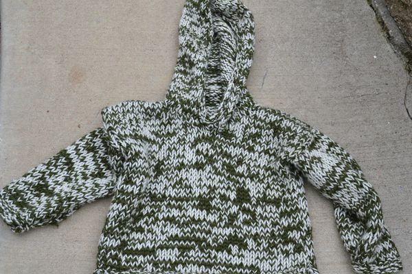 An altered knit sweater