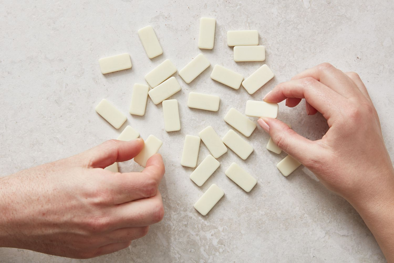 face-down dominoes