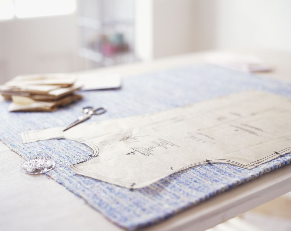 Sewing pattern material