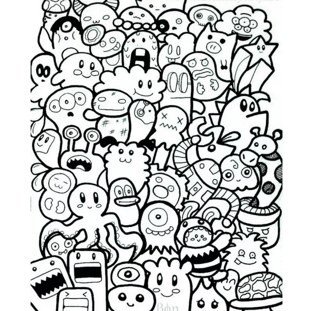 Genoeg Free, Printable Coloring Pages for Adults @DQ45