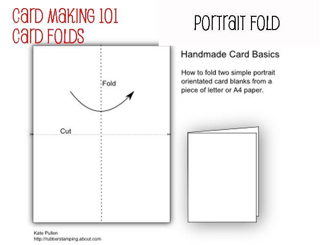 basic card folds for beginners