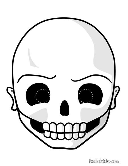 a skull halloween mask