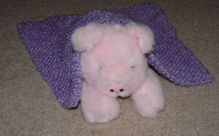 Easy Bias Garter Stitch Doll Blanket Knitting Pattern