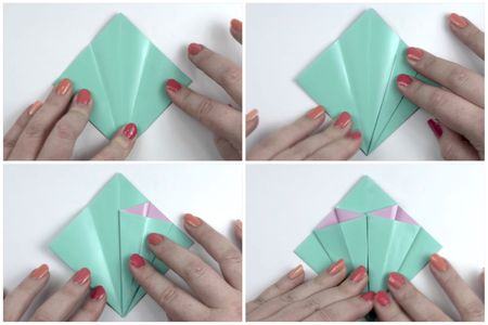Make an easy origami lily flower origami flower tutorial 04 paper kawaii mightylinksfo