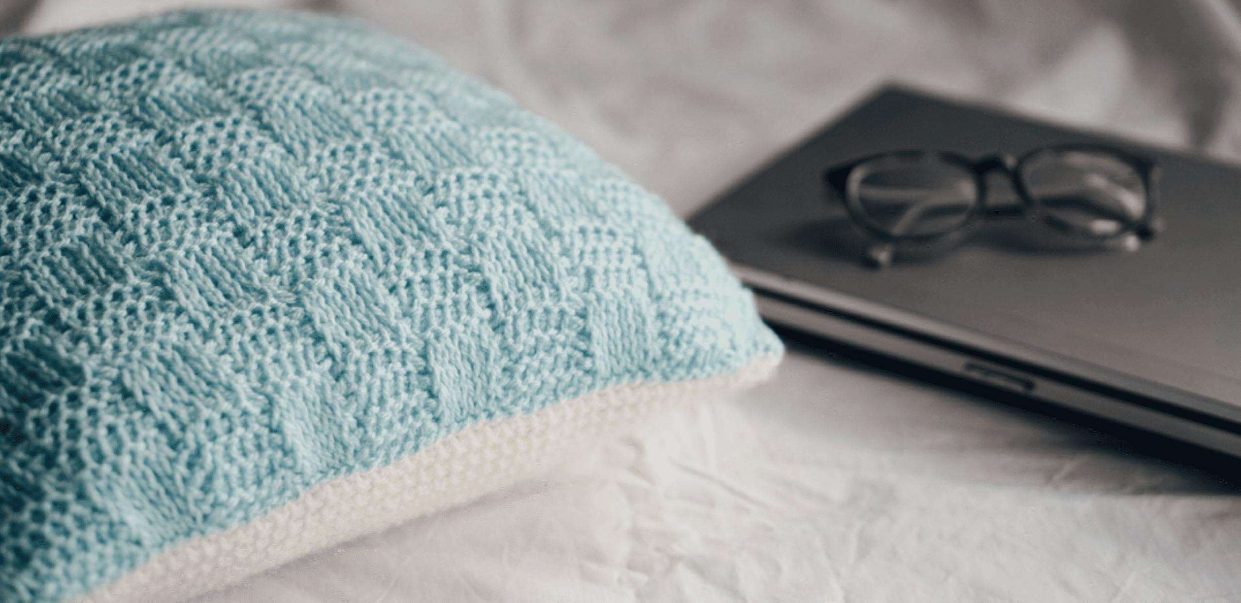 Tunisian Basketweave Crochet Pillow Free Pattern