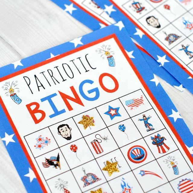 4th of July Bingo Game