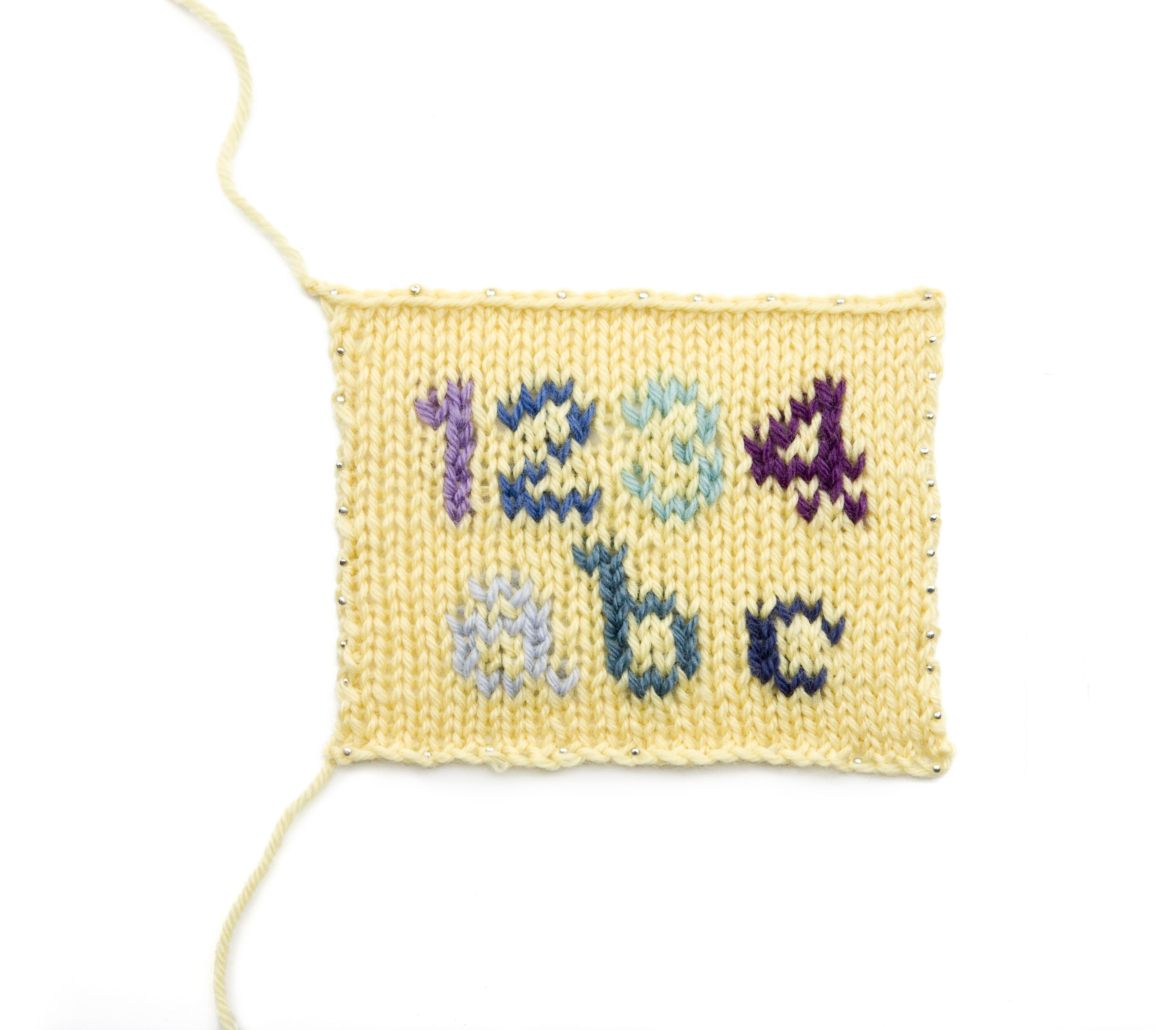 Knitting Letters: Upper Case Alphabet Chart