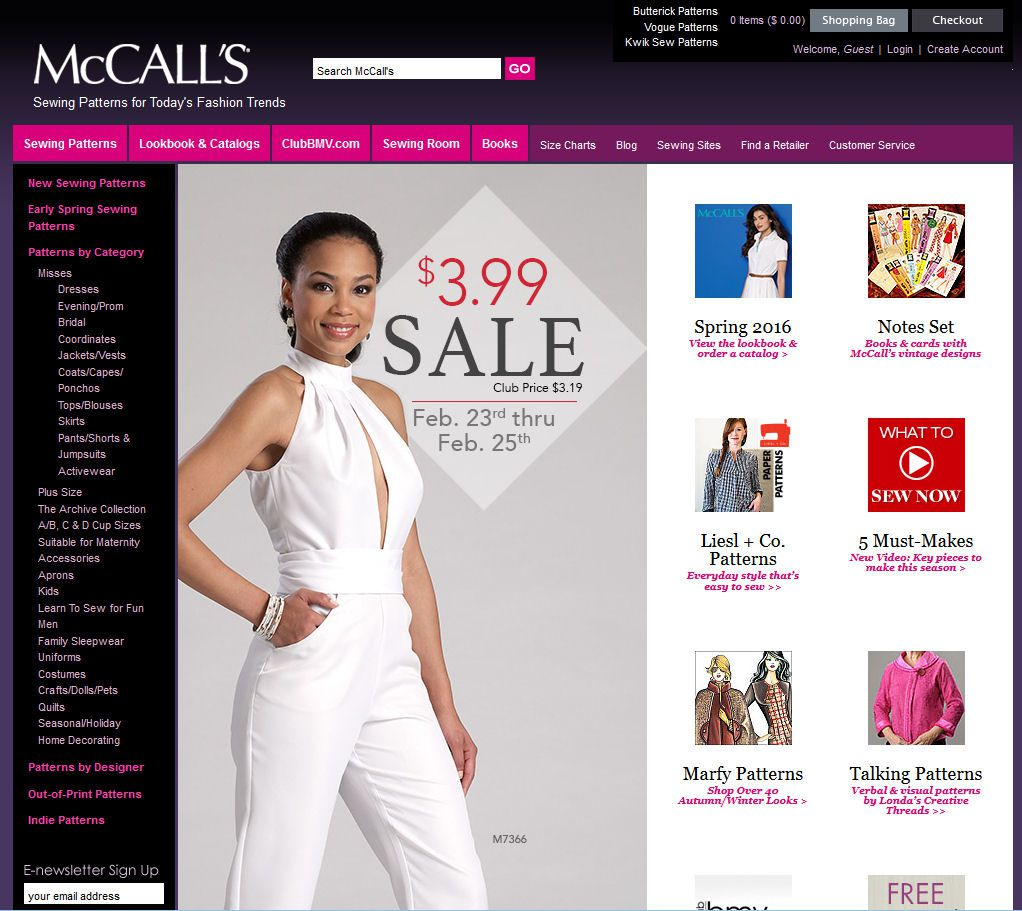 McCall's Sewing Patterns