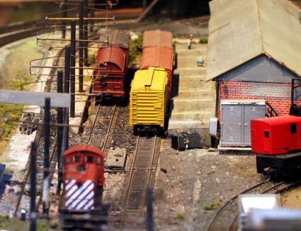 HO-scale model railroad