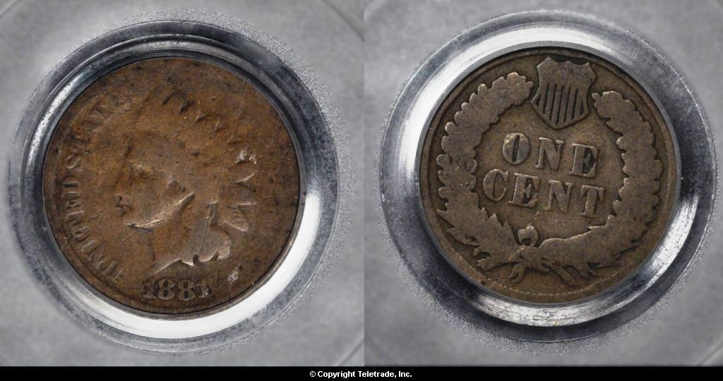Indian Head Penny Graded About Good (AG03)