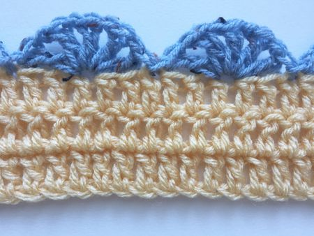 Simple Shell Stitch Crochet Edging Pattern