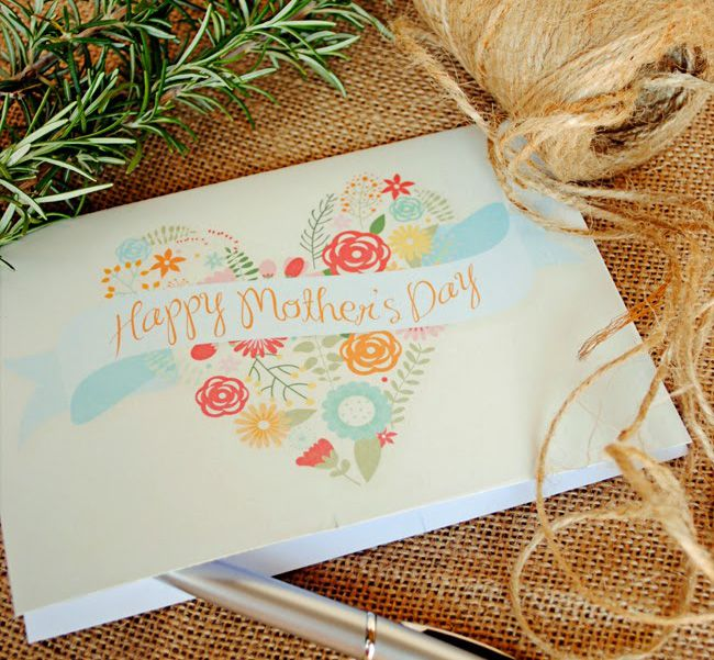 DIY Floral Heart Mother's Day Card