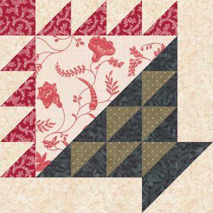 Flower Basket Quilt Block Pattern