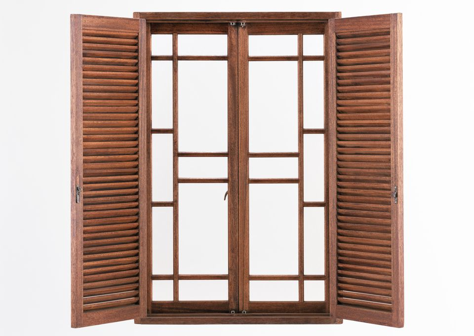 Louvered window shutters