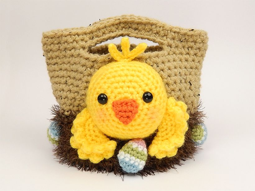 Easter Chick Tote Bag with Eggs