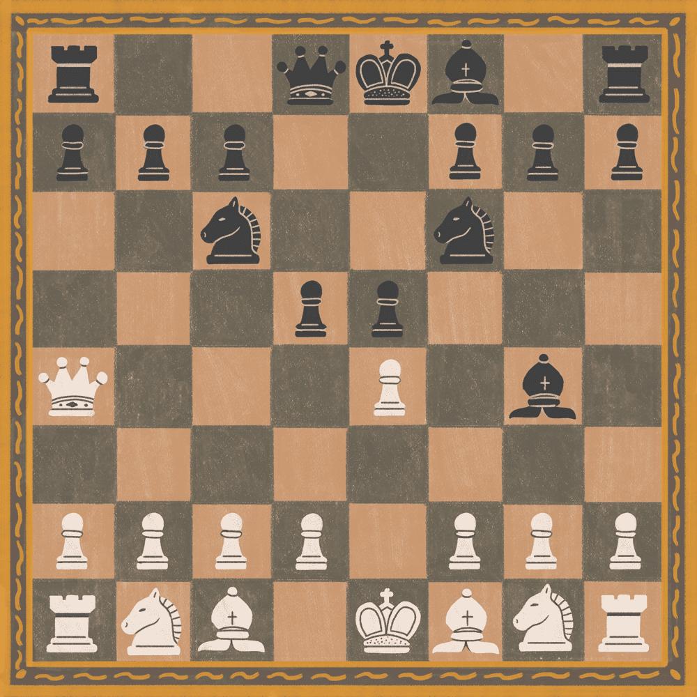 Illustration of development in chess