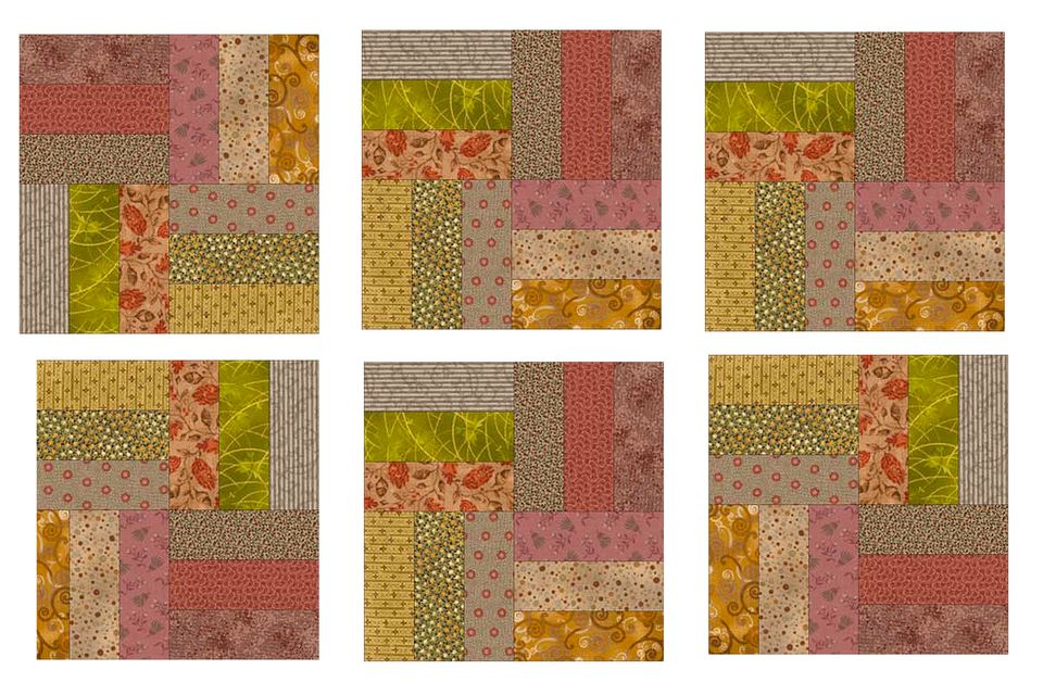 Rail Fence Quilt Blocks