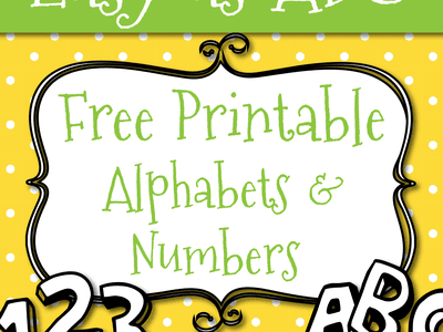 free printable alphabet template upper case