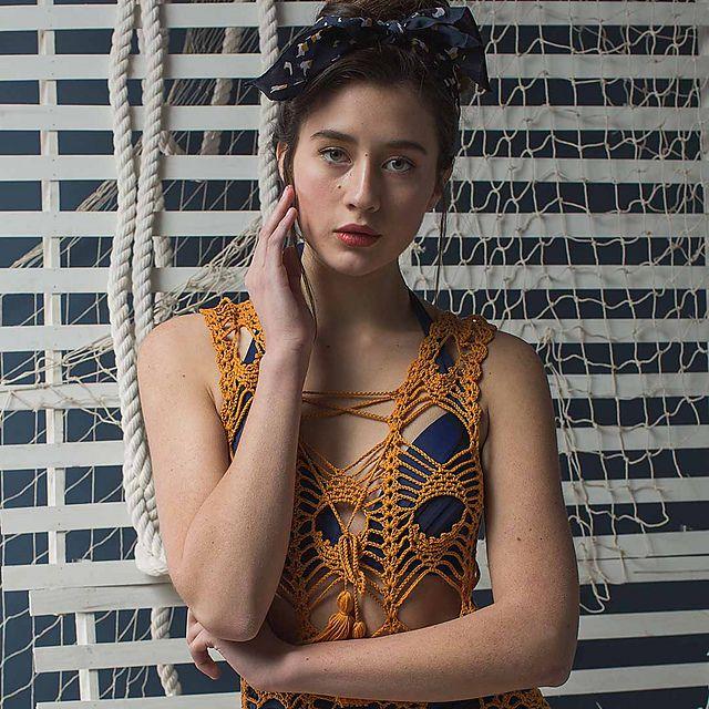 Crochet Peacock Lace Dress Pattern