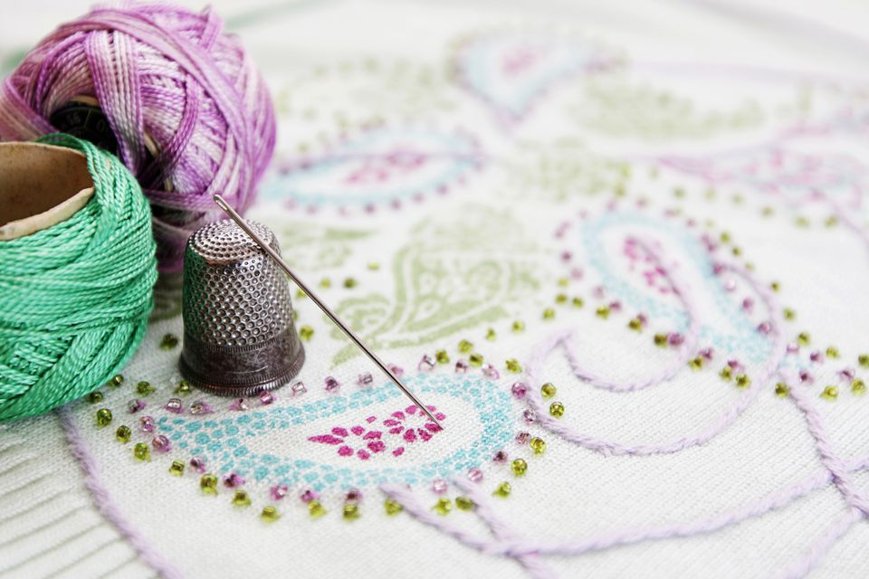 Embroidery thread and needle