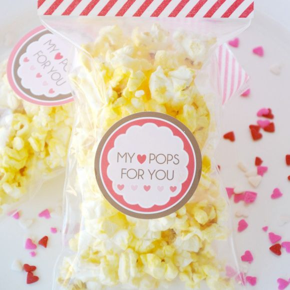 DIY Valentine's Day My Heart Pops For You Popcorn Bags