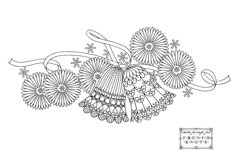 Wedding bells vintage pattern