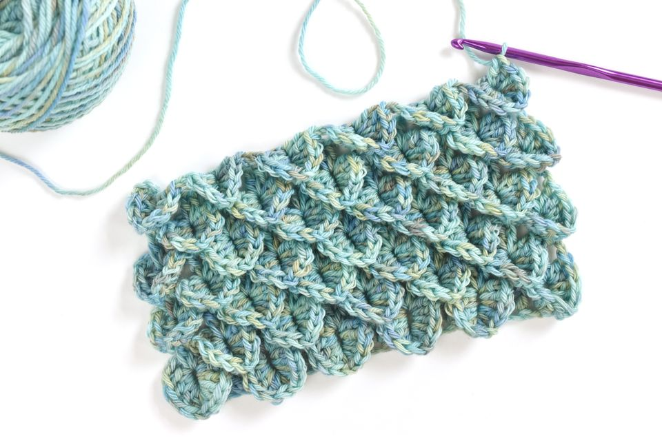 How to Work the Crocodile Stitch in Crochet
