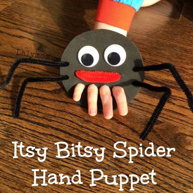 Spider hand puppet