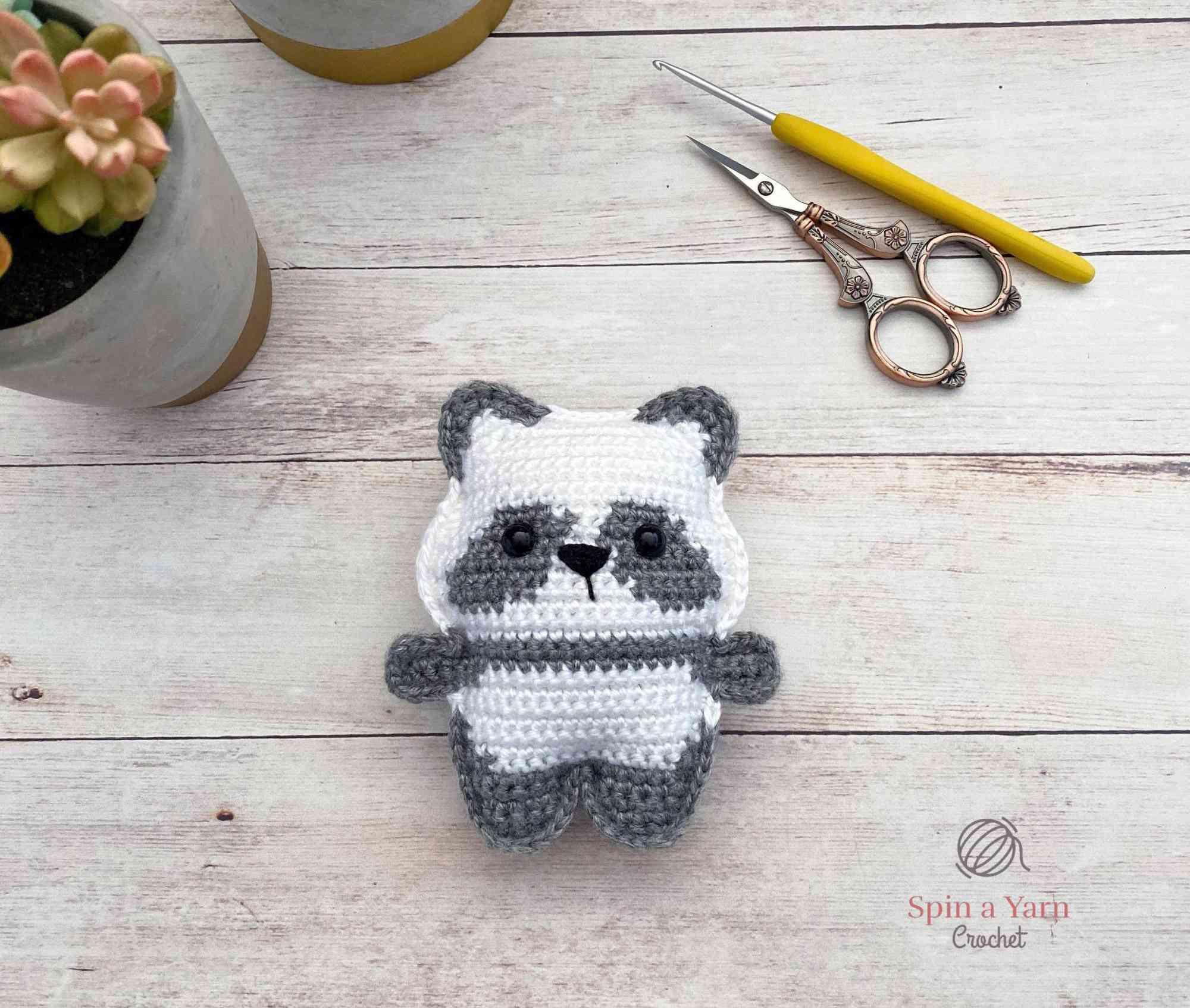 Pocket Panda Crocheted Toy Pattern