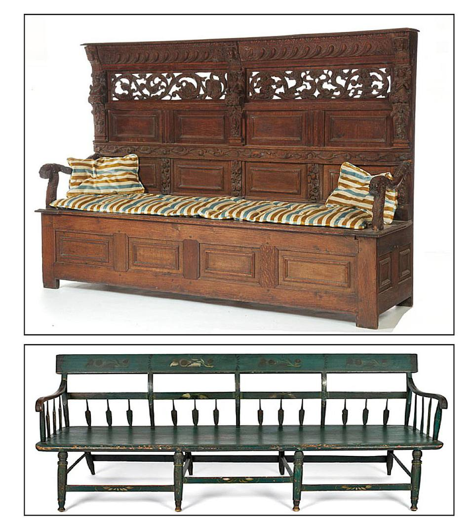 Settle vs. Settee Examples in Antique Furniture