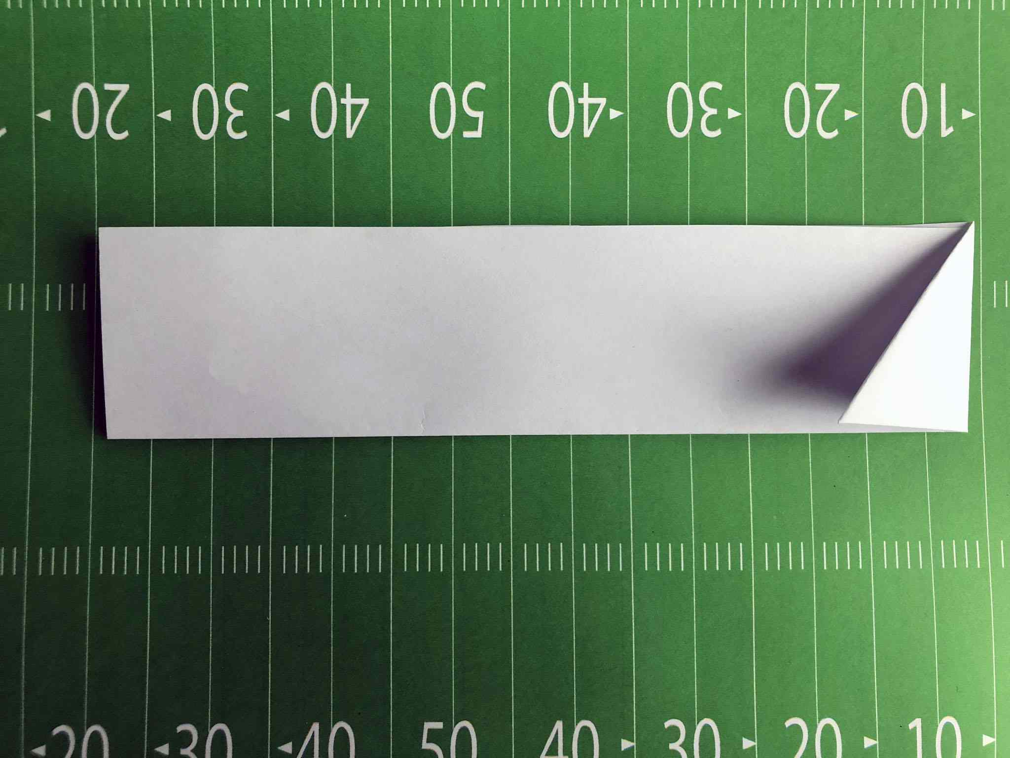 second paper football fold