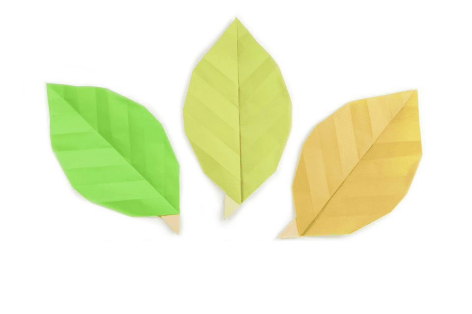 how to make easy origami leaves