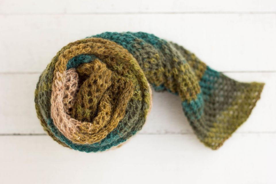 High Angle View Of Scarf On Table
