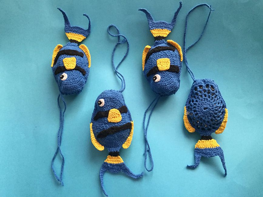 Crochet Fish Scrubbie Free Pattern
