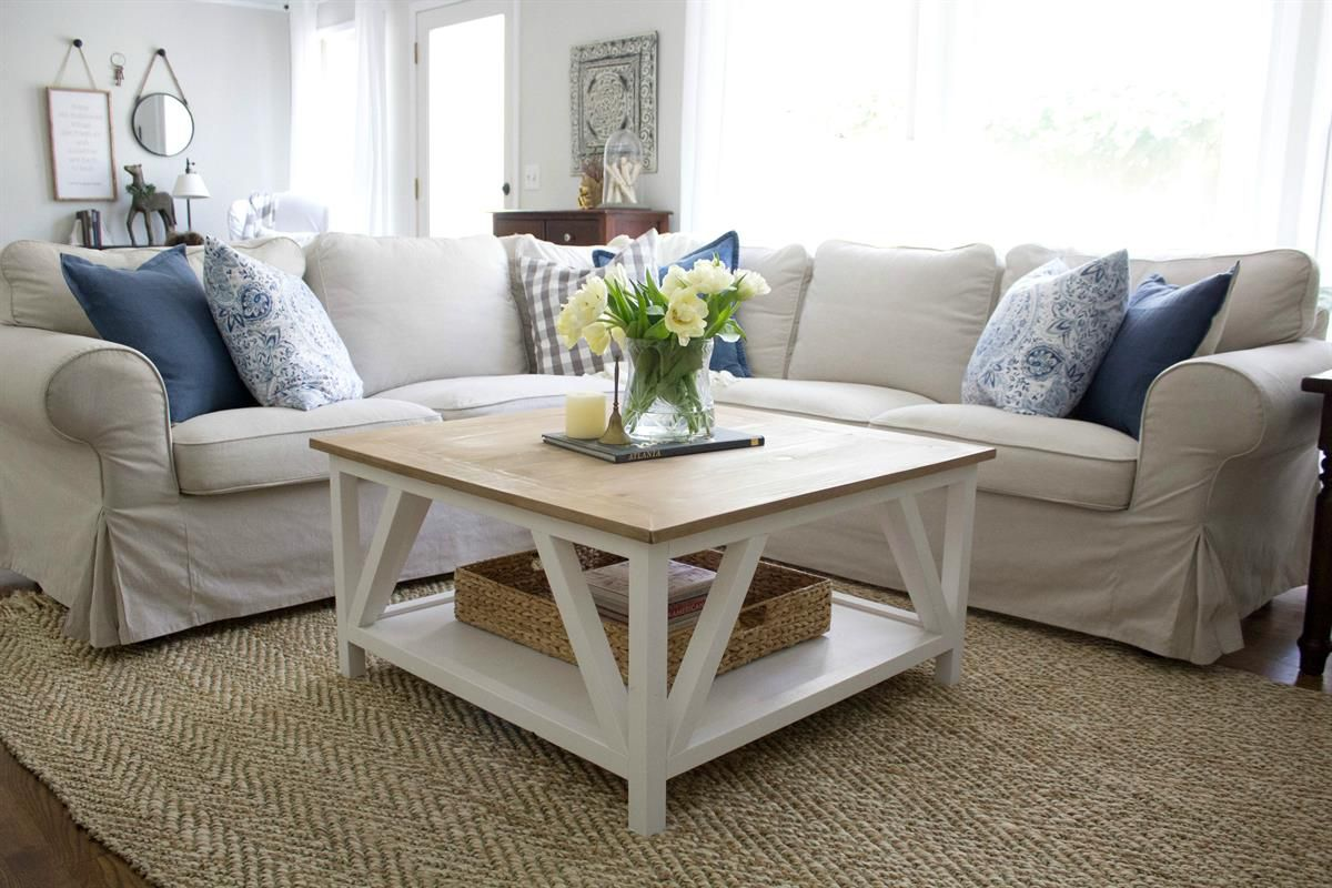 A Modern Diy Coffee Table In Living Room