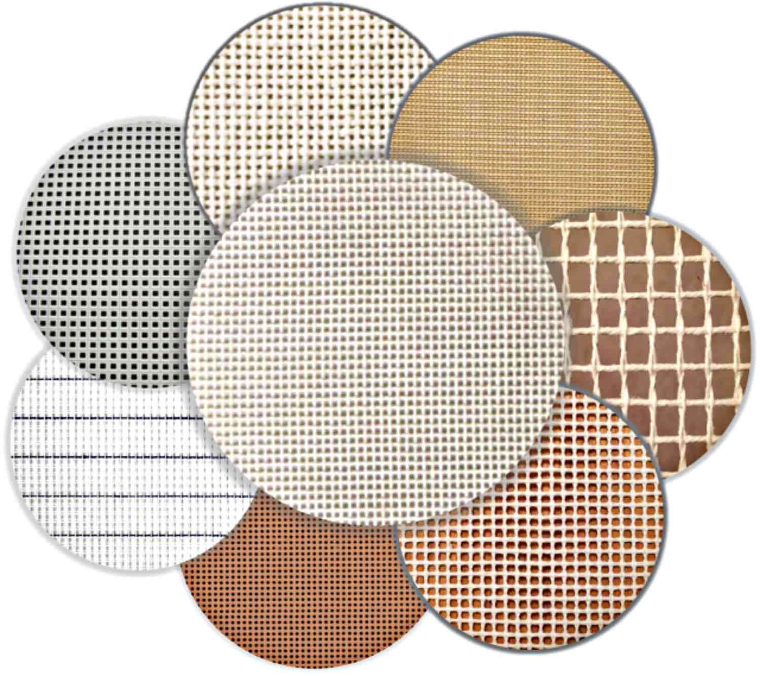 Assorted Types of Needlepoint Canvas