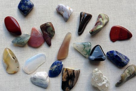 Wrap a stone shell or beach glass into a pendant assorted polished stones aloadofball Image collections