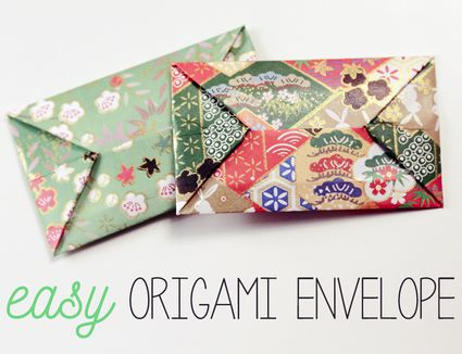easy origami envelope instructions
