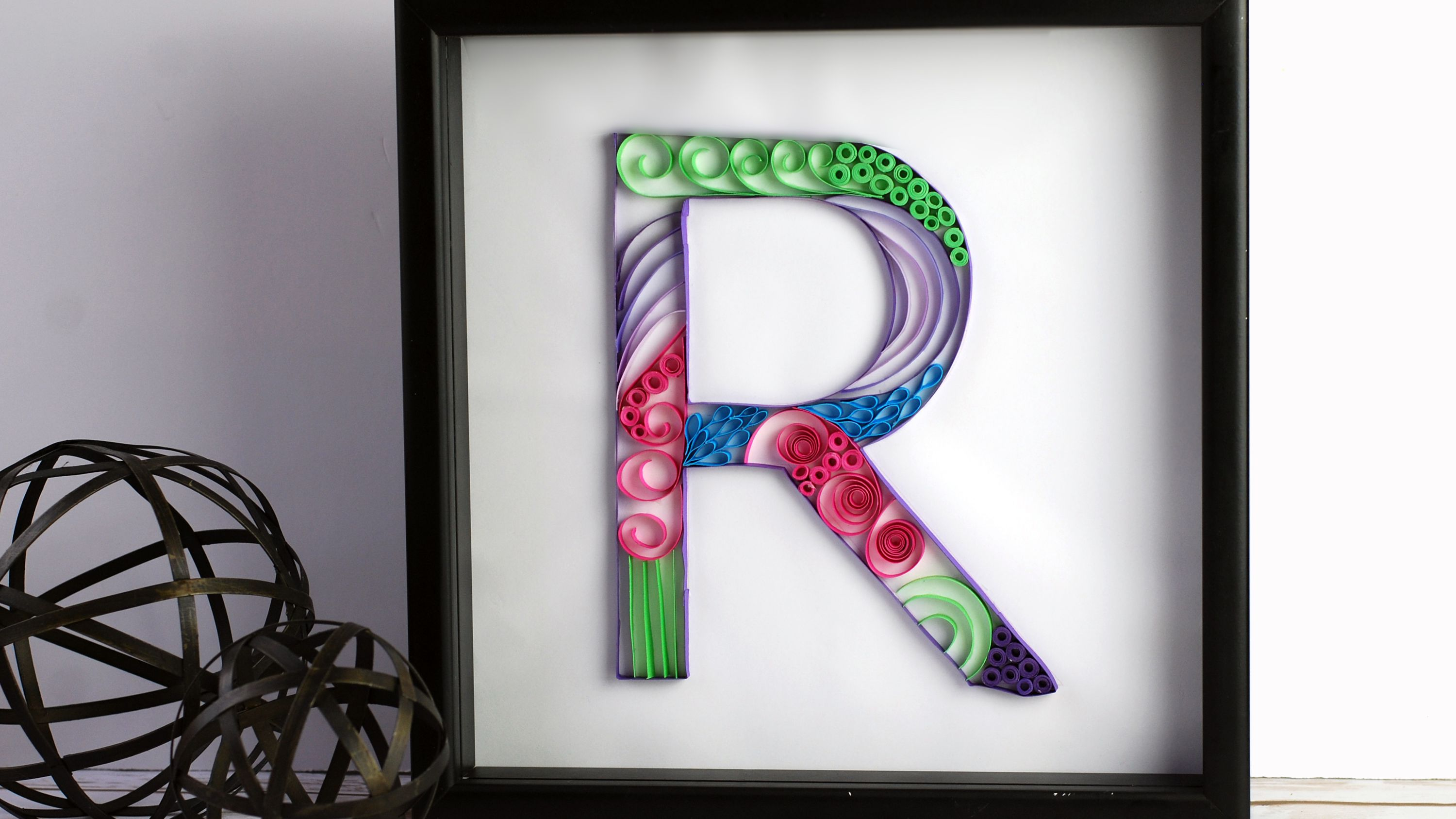 How to Make a Paper Quilled Monogram
