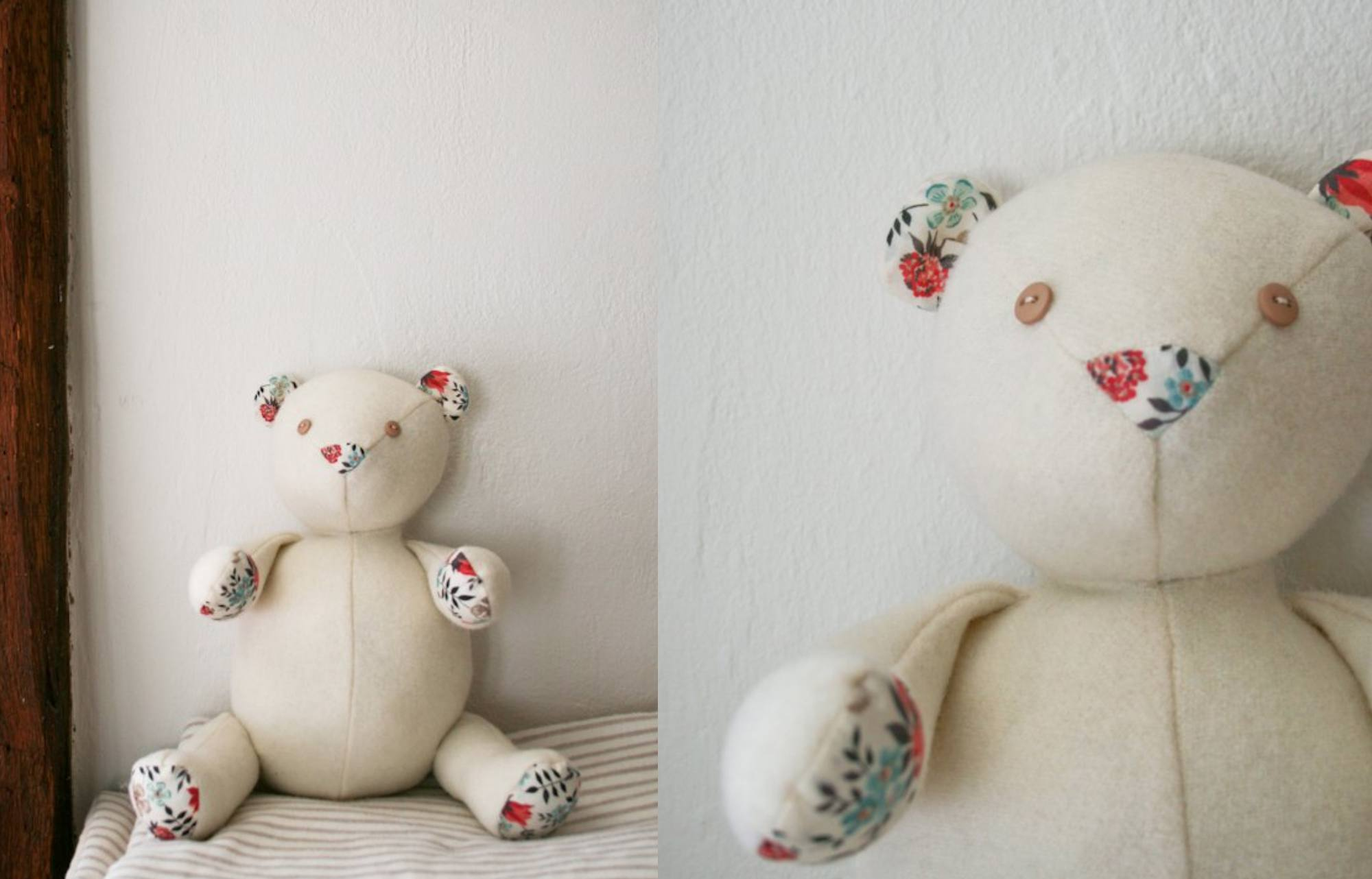 Wool And Liberty Teddy Bear Pattern